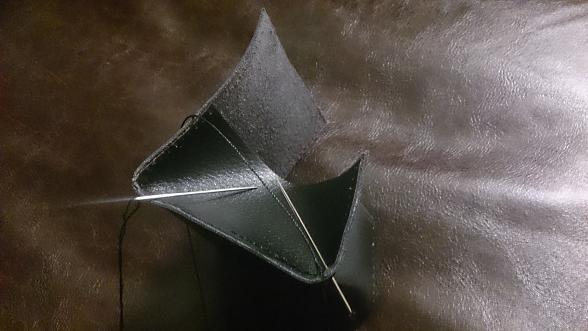 革製品 コインケース 制作
