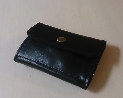 aekana アエカナ 小銭入れ付きキーケース付きパスケース 縫い付け