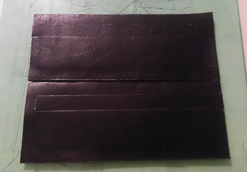 革の質感を活かした長財布 革小物 縫い付け