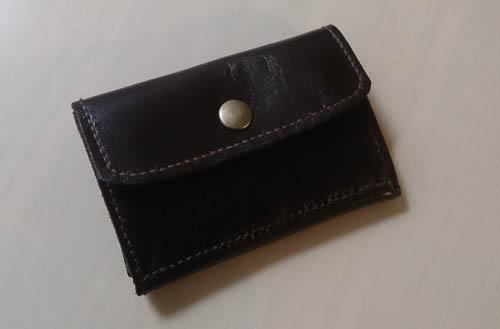 本革の小銭入れ付きキーケース付きパスケース完成