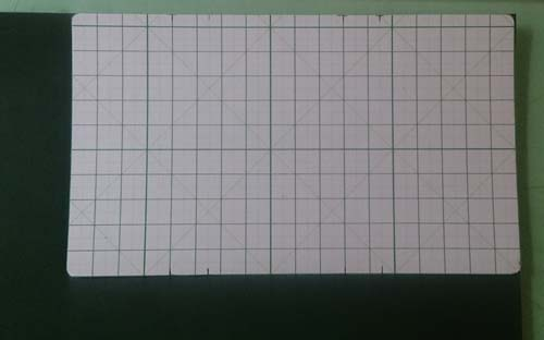 緑の革のキーケース用型紙