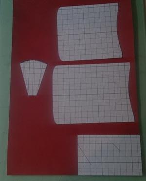 型紙から線を引く