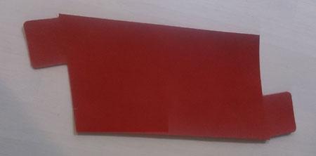 赤いヌメ革のねじれペンケース
