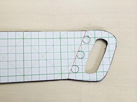 本革のカップホルダーの型紙