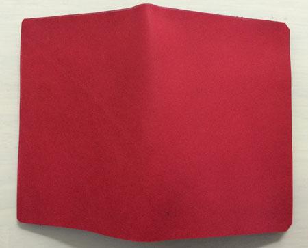 カードケースの表のヌメ革