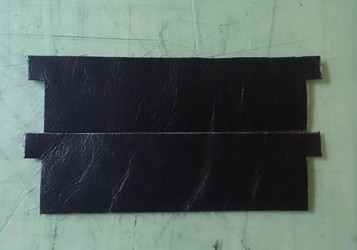 革製品 長財布のカード入れ部分