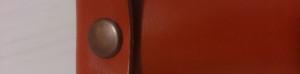 赤い本革のねじれペンケース