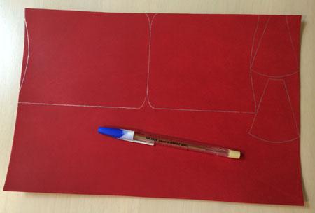 銀ペンで線を引く