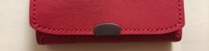 コバホック・赤い本革の小銭入れ付きキーケース付きパスケース・裏地付き