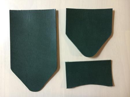 緑色のパスケース付きキーケース