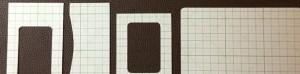 シボ加工・茶色い本革のカードケース・茶色の裏地付き