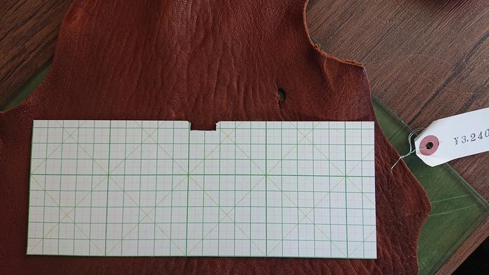 マネークリップ型紙 長い方
